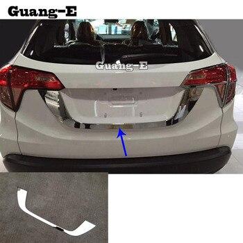 Corps de voiture ABS chrome porte arrière permis hayon cadre pare-chocs plaque garniture lampe coffre moulage pour Honda HRV HR-V Vezel 2019 2020