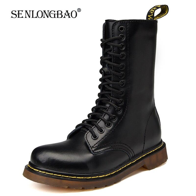 חדש לגמרי חורף יוניסקס גבוהה למעלה מדבר טקטי צבאי מגפי גברים של עבודת בטיחות נעלי סתיו צינור אמצע גברים מגפי Botas 35-48