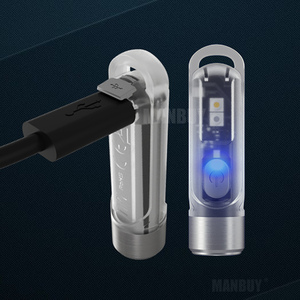 Image 2 - Nitecore TIKI CRI beyaz + UV şarjlı LED ışık el feneri 300 lümen dahili Li ion pil Mini vücut parmak el feneri