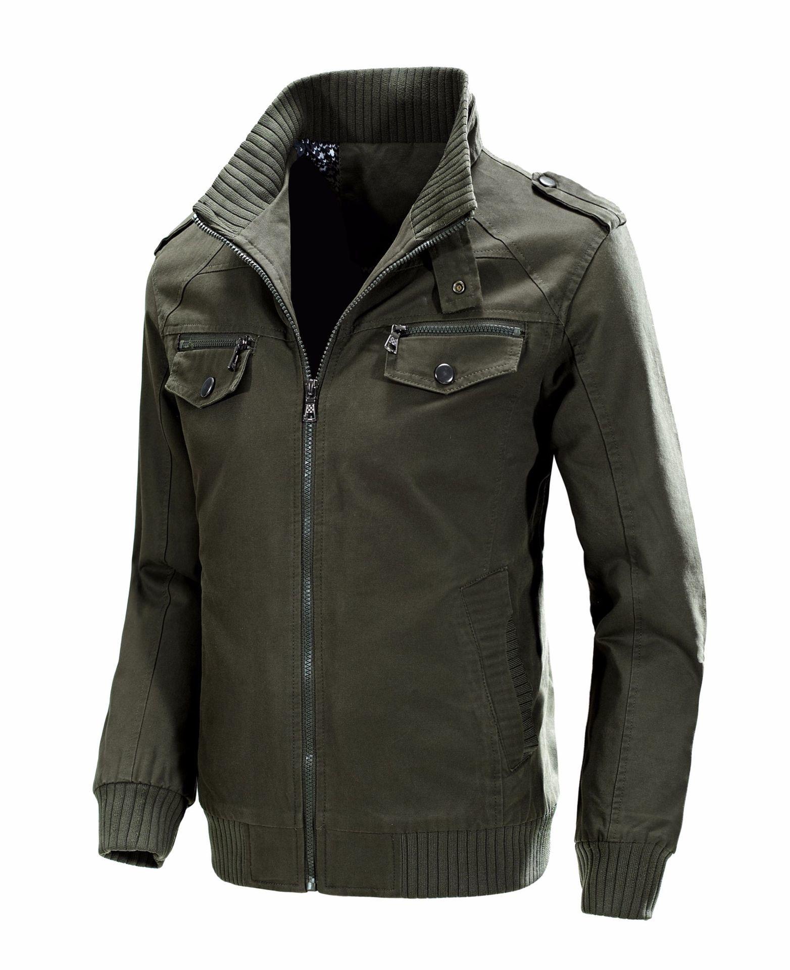KOSMO MASA, хлопковая куртка бомбер, Мужская ветровка, Военный стиль, 4xl, черный цвет, весна осень, повседневная мужская куртка и пальто для мужчин... - 4