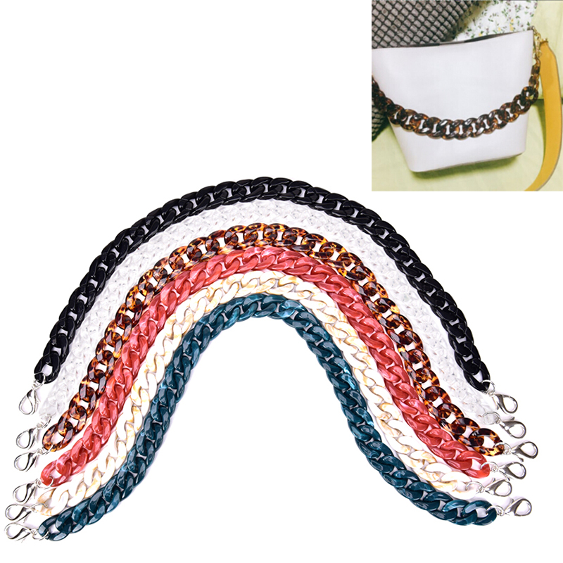 1PCS Fashion 60cm Acrylic Detachable Replacement Chain Shoulder Bag Strap Handbag Accessories