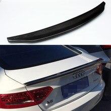 Estilo do carro a5 caractere estilo fibra de carbono tronco traseiro spoiler asa para audi a5 4 door 2010-2013