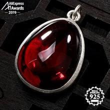 Niet Nep S925 Fijne Antieke Winkel Winkel Ruby Hanger Voor Ketting Vrouwen Handgemaakte Vintage Natuurlijke Carneool Ruby Red Jasper Rode