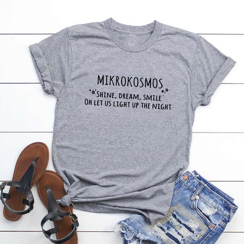 ผู้หญิงแฟชั่นKpop Mikrokosmosเสื้อยืดฤดูร้อนสบายๆแขนสั้นพิมพ์เกาหลีแฟชั่นแผนที่Soul Tเสื้อ