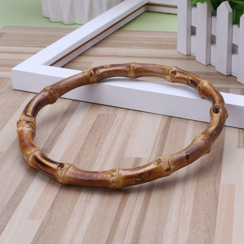 13x13cm 1 x Round Bamboo Bag Handle for Handcrafted Handbag DIY Bags Accessories Good Quality