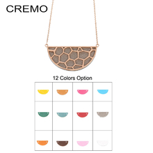 Cremo Colorful Serotonin Molecule Chemistry DNA Necklace Geometric Polygon Honeycomb Interchangeable Leather Pendant
