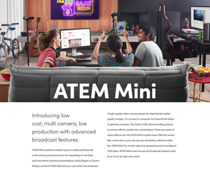 Image 3 - Original Blackmagic Design ATEM Mini Pro / ATEM Mini HDMI Live Stream Switcher Multi view and Recording New Features
