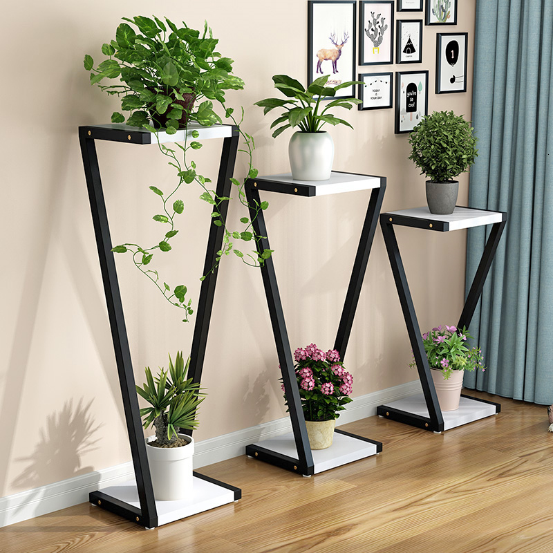 A Room Iron Art Green Laojia Multi-storey Indoor Balcony Simplicity Modern Northern Europe Meaty Shelf Household Flower Rack