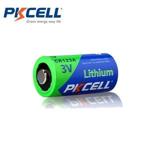 Image 3 - 12Pcs PKCELL 3V 배터리 CR123A CR123 123A CR17345 KL23a VL123A DL123A 5018LC EL123AP Li MnO2 리튬 배터리 LED 손전등