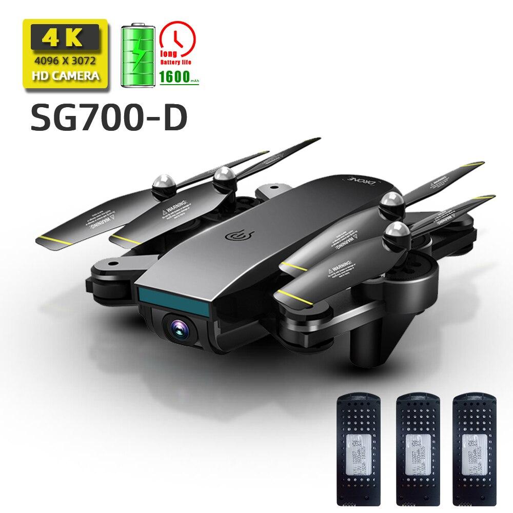 Sg700 sg700d quadcopter dron drones com câmera hd mini zangão rc helicóptero 4k brinquedos profissional drohne com câmera quadrocopter