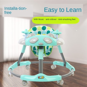 2020 New Baby Walker Anti-rollover Anti-o-leg Multi-function with Music Baby Stroller Baby Walker 6-18 Months new design baby walker multifunctional music plate u type folding easy anti rollover safety scooter baby walkers portable carry