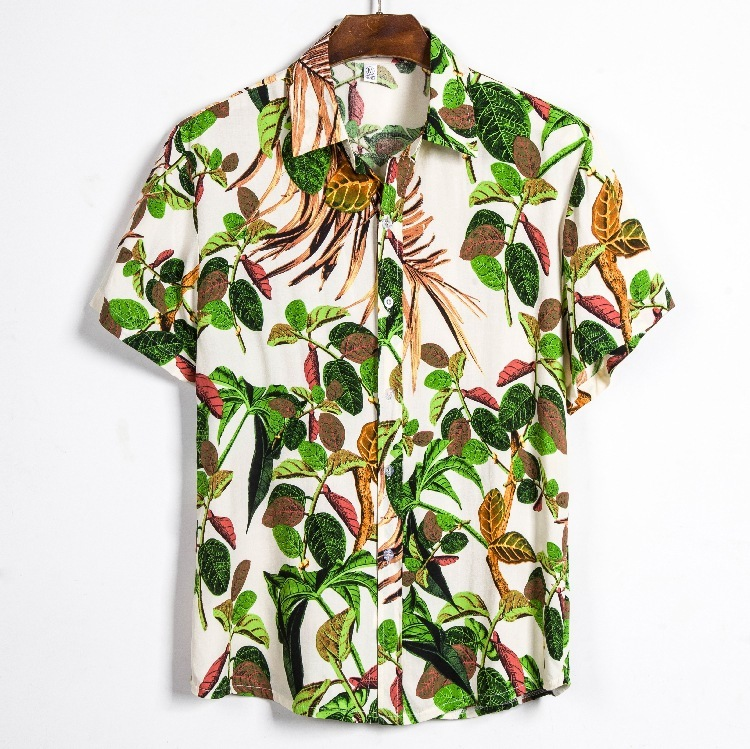 2020 Man Will Code Printing Short Sleeve Shirt Male Trend Personality Printing Self-cultivation Shirt Cs128