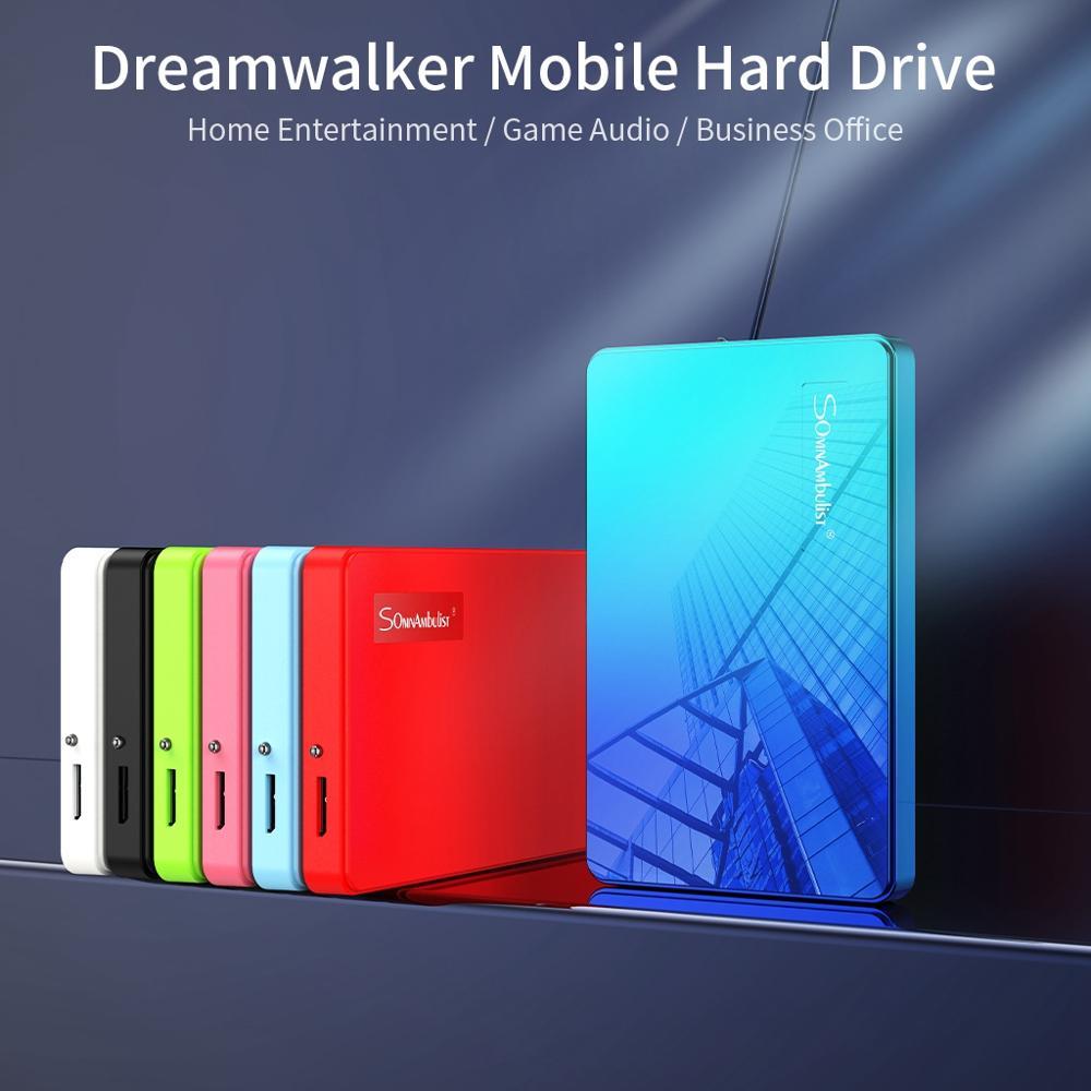 ABS couleur HDD 2.5 1 to disque dur externe 1 to 2 to dispositif de stockage disque dur pour ordinateur portable HD 1 to USB 3.0