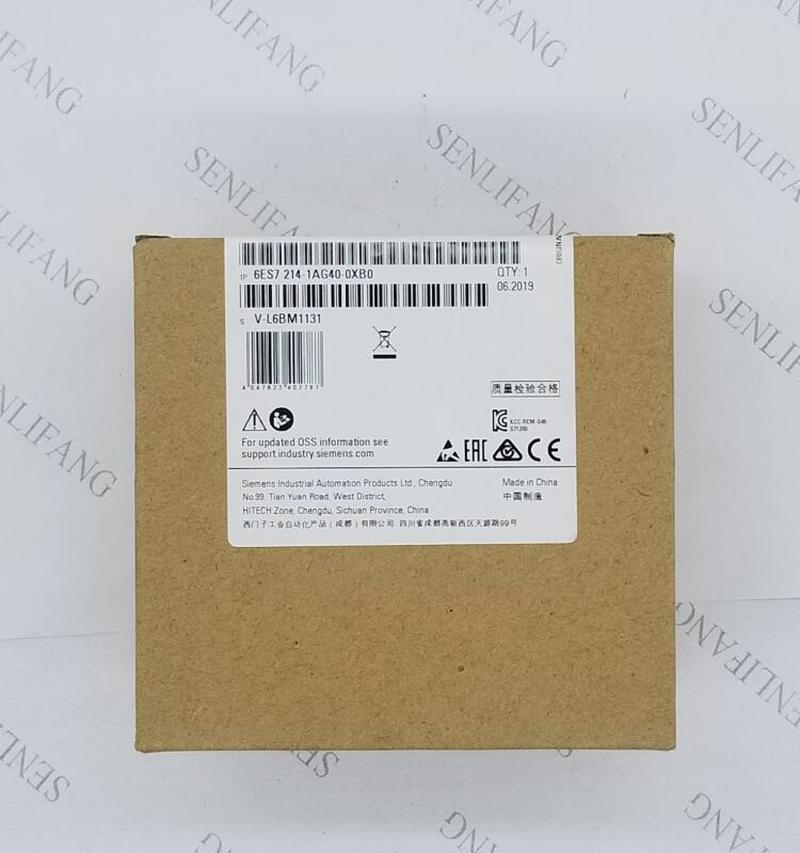 Free Shipping Simatic 6ES7214-1AG40-0XB0 S7-1200 1214C CPU Module 6ES7 214-1AG40-0XB0 6ES72141AG400XB0 Original New 14 DI 24V DC