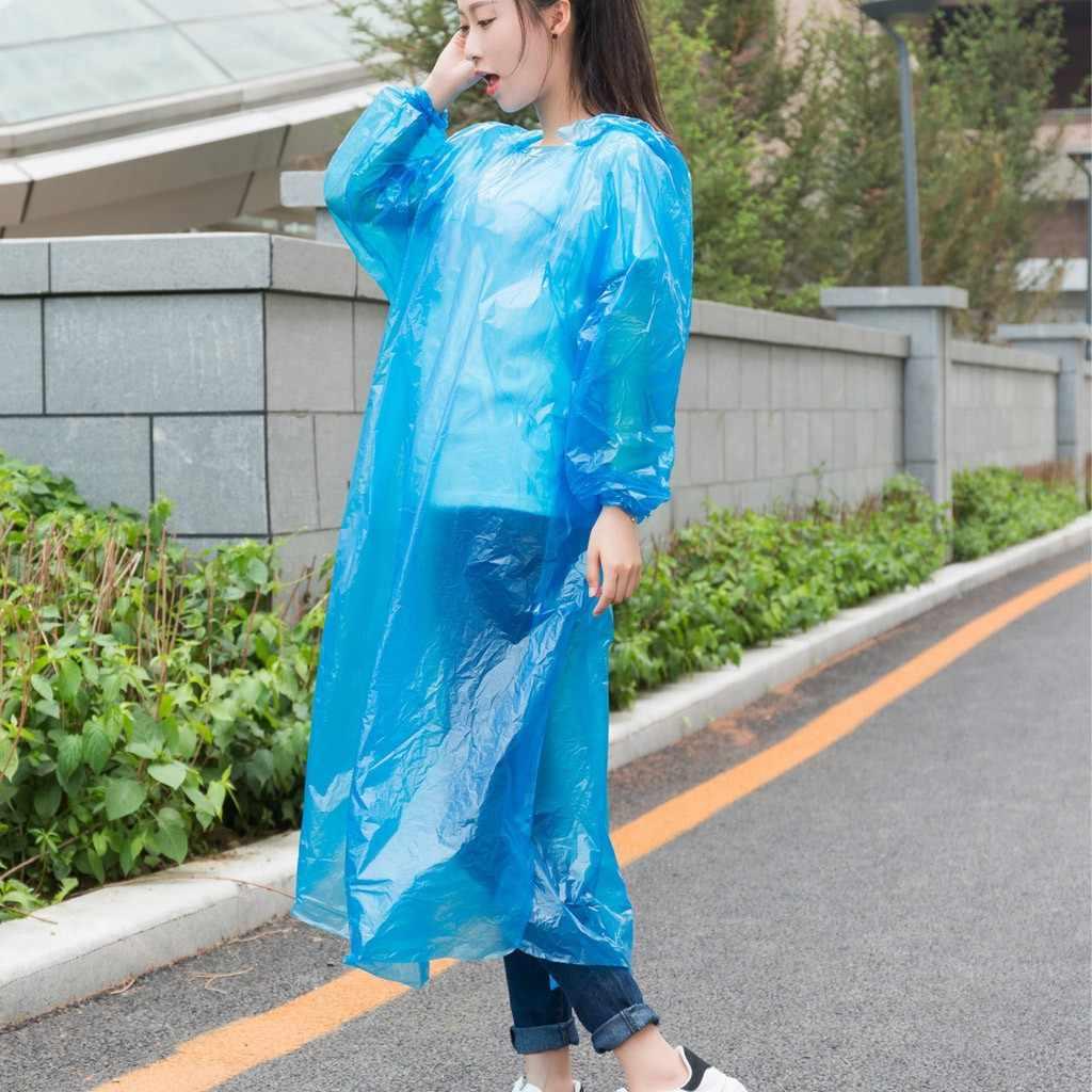 Delle Donne di modo Uomo Impermeabile Usa E Getta Per Adulti Di Emergenza Impermeabile Cappotto di Pioggia di Campeggio D'escursione Cappuccio Impermeabili Vestito Dropshipping M140 #