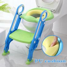 2020 New Baby Potty Training Seat Children's Potty Baby Toilet Seat With Adjustable Ladder Infant Toilet Training Folding Seat baby toilet seat folding children toddler potty toilet chair trainer with safety adjustable ladder step stools toilet training