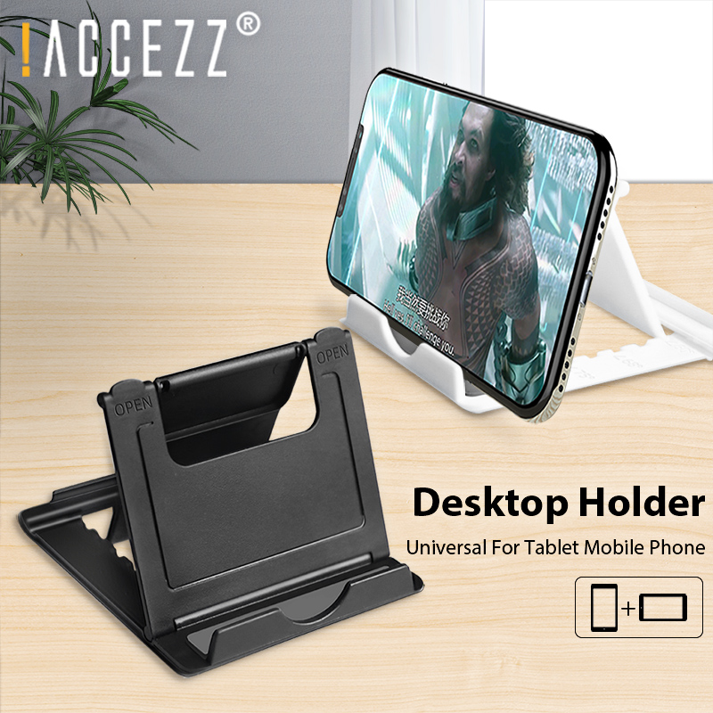 !ACCEZZ Phone Holder For IPhone 11 Pro MAX Samsung Universal Mobile Phone Bracket Tablet Stand Foldable Adjustable Desk Bracket