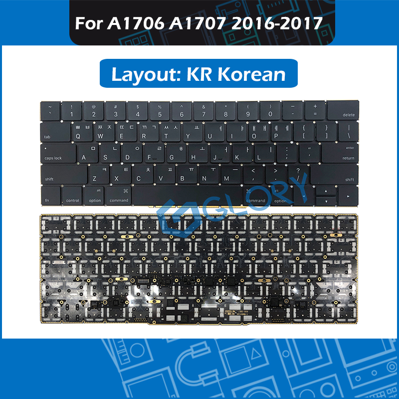 New A1706 A1707 KR Korean Replacement Keyboard For Macbook Pro Retina 13 15 Late 2016 Mid 2017 Korea Keyboard image