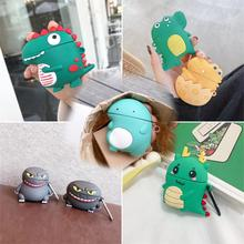 3D Wireless Bluetooth Headphone Case For Airpods Pro Case Silicone Cartoon dinosaur Earpods