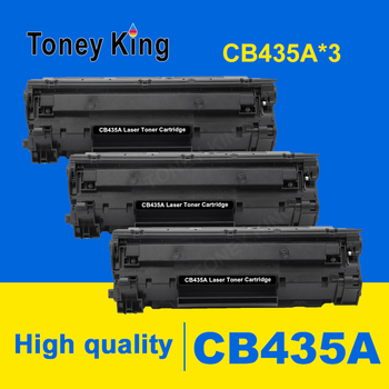 3 pcs Compatible 35A Toner Cartridge Replacement for HP CB435A CB436A 435A 435 CRG925 912 36 Refilled for laserjet pro 1005 1006