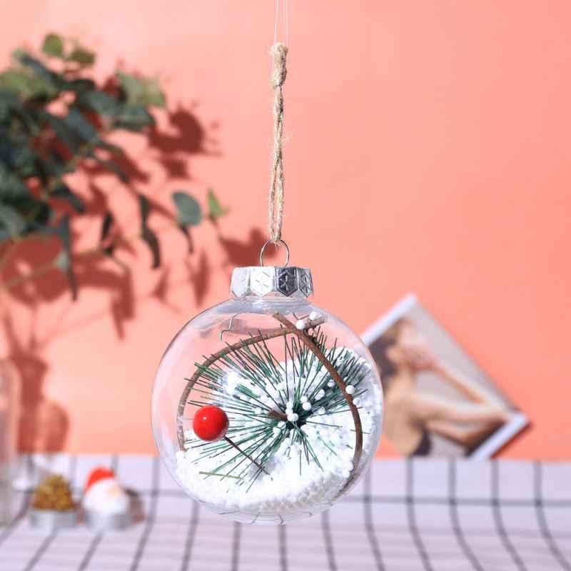 Рождественские украшения для дома Рождественский шар прозрачные шары рукоделия