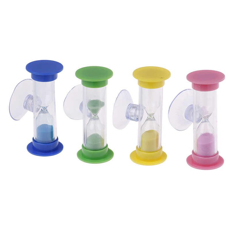 1Pc 2 minuty MiNi szklane klepsydra do zębów gadżet szczoteczka obrotowa klepsydra z piaskiem prysznic zegar Multicolor dzieci klepsydra