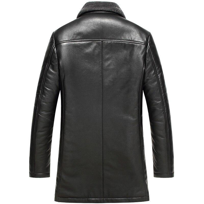 Genuine Leather Jacket Men Winter Sheepskin Coat Real Wool Fur Liner Men Leather Jackets Chaqueta Cuero Hombre 61Z16017