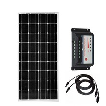 Solar Kit Home Panel 12v 100w 200w 300w 400w Charge Controller 12v/24v 30A PV Cable Battery Charger Car Caravan Camping