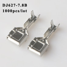 DJ627-7.8B 1000PCS plug terminal Male female wire connector Plugs socket Fuse box Wire harness Soft Jacket car terminal plug t plug y wire harness female to male t plug parallel battery pack connector cable