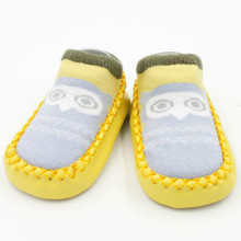 цена на Newborn Baby Socks Toddler Indoor Sock Shoes Winter Thick Terry Cotton Baby Girl Sock With Rubber Soles Infant Animal Funny Sock