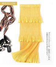 HOT SELLING   miyake pleated skirt Elegant ruffles skirt medium-long female elegant high waist all-match expansion skirt