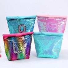 Snaihouse изолированная сумка с блестками, сумка для обеда, Экологичная алюминиевая пленка, Ланч-бокс, сумка для пикника на открытом воздухе, изоляционная Сумка для льда, сумка для бутылки