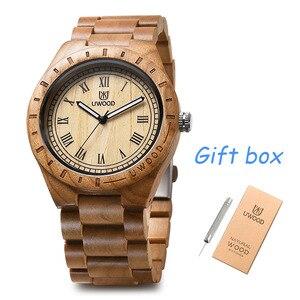Image 2 - ساعة يد من الخشب الأكثر مبيعًا مصنوعة من خشب الصندل UWOOD ساعة يد عصرية للرجال والطلاب بسوار من الخشب الكلاسيكي ساعات يد للرجال