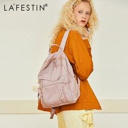 LA FESTIN 2020 new large-capacity backpack fashion ladies backpack Korean campus high school student schoolbag