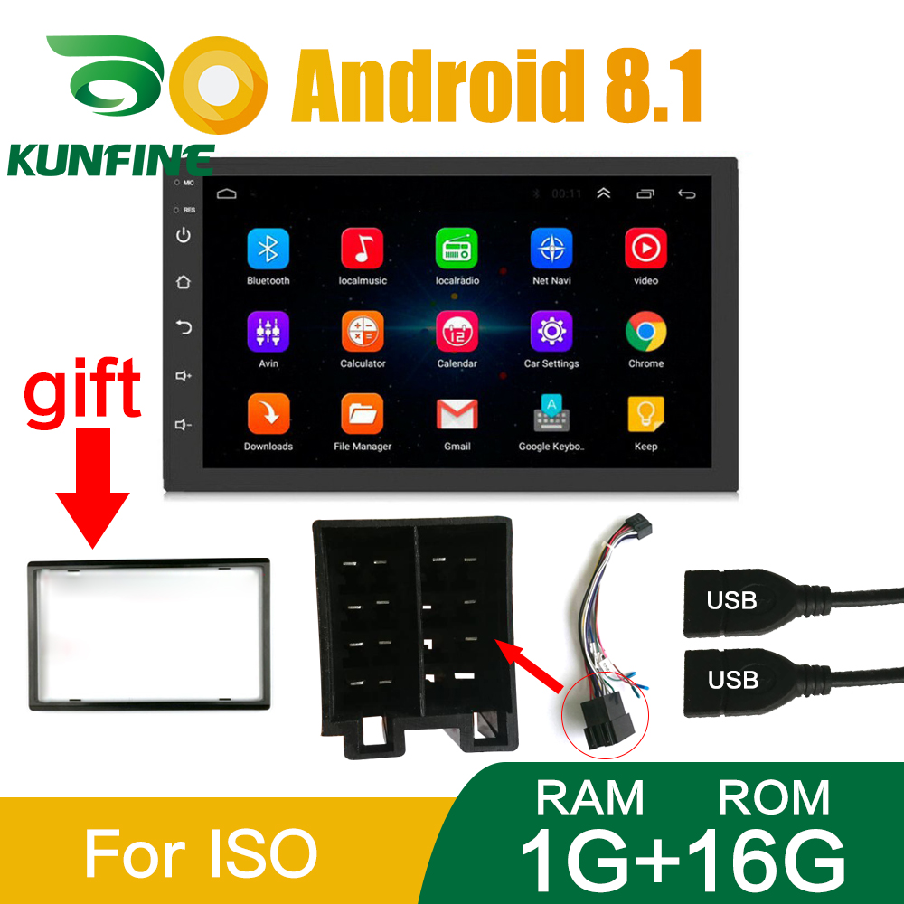 2 Din Android 8.1 autoradio lecteur vidéo multimédia universel auto stéréo GPS carte pour Volkswagen Nissan Hyundai Toyoto Suzuki