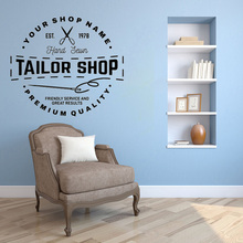 Tailor Shop Custom personalized vinyl wall sticker Sewing Studio decor window decal removable art mural welcome sign many languages wall sticker decal art vinyl mural office shop home wall decor welcome diy wallpaper removable bg07
