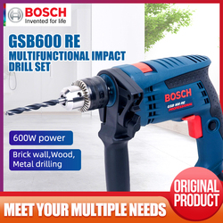 Bosch GSB600RE Impact Drill Set Multi-function Household Electric Drill Screwdriver Electric Hammer Toolbox