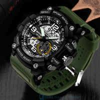 Wasserdichte Sport Uhr Männer Uhren Militär Armee Berühmte Marke SANDA Dual Display Armbanduhr Männlichen Armbanduhr Für Männer Uhr Stunden