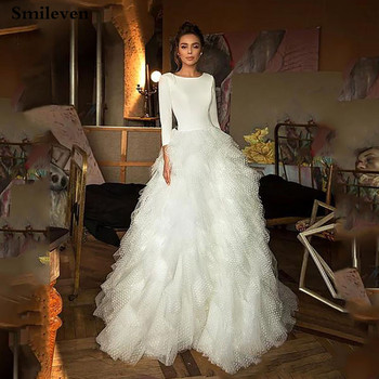 Smileven Boho Wedding Dress A Line 3/4 Long Sleeves Turkey Style Beach Bridal Gowns Vestido De Noiva