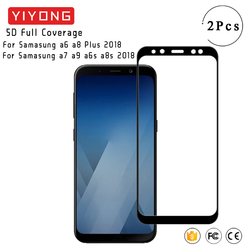 YIYONG 5D Full Cover Glass For Samsung <font><b>Galaxy</b></font> A8 A6 Plus <font><b>2018</b></font> A9 A9s A6s A8s A3 <font><b>A5</b></font> A7 2017 Tempered Glass <font><b>Screen</b></font> Protector Glass image