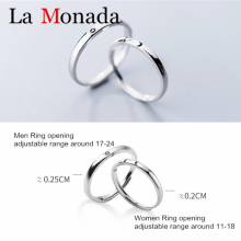 925 Sterling Silver Rings for Women Adjustable Sun Moon Ring Openning For Men Women Couple Engagement Jewelry