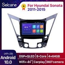 Seicane Android 10 9 pulgadas de pantalla táctil HD DVD 2din radio de coche GPS Navi sistema para 2011, 2012, 2013, 2014, 2015 HYUNDAI Sonata i40 i45