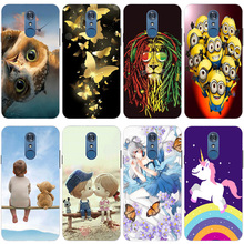 Soft Silicone TPU Back Cover For Coque LG Q7 Case 3D Cute Luxury Capa for LG Q 7