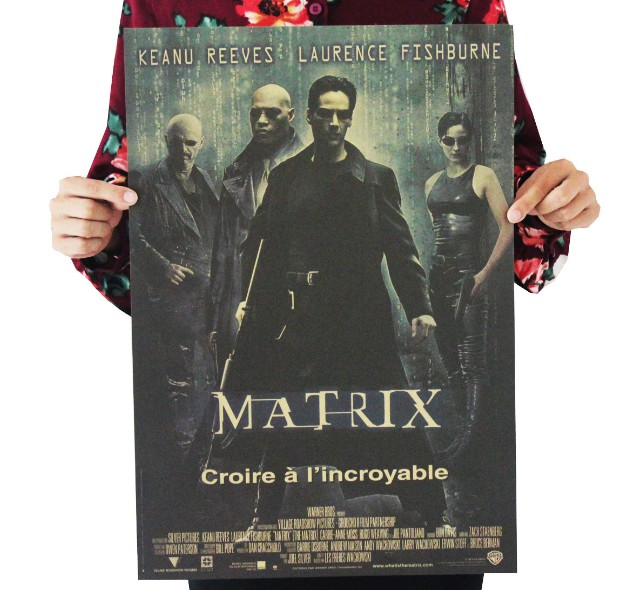 The Matrix Vintage Kraft Paper Classic Movie Poster Map School Wall Garage Decoration  Art  Retro Prints