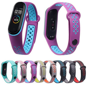For Mi Band 3 Bracelet Strap Miband 4 Strap Double Color Replacement Silicone Wrist Strap For Xiaomi Mi Banda Smartband