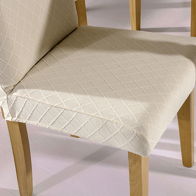 1/4/6 Pcs Jacquard Plain Dining Chair Cover Spandex Elastic Chair Slipcover Case Stretch Chair Cover for Wedding Hotel Banquet 6