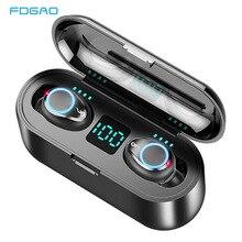 Wireless Headphones Bluetooth Earphones With 3 LED Display 2000mAh Charging Box Sports Waterproof Ea