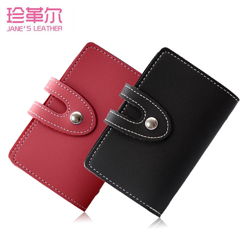 2019 New Women Men Girl 24 Slots Business Cards Case Bag Candy Color Credit ID Bank Card Photo Holder Wallet For Documents 2019