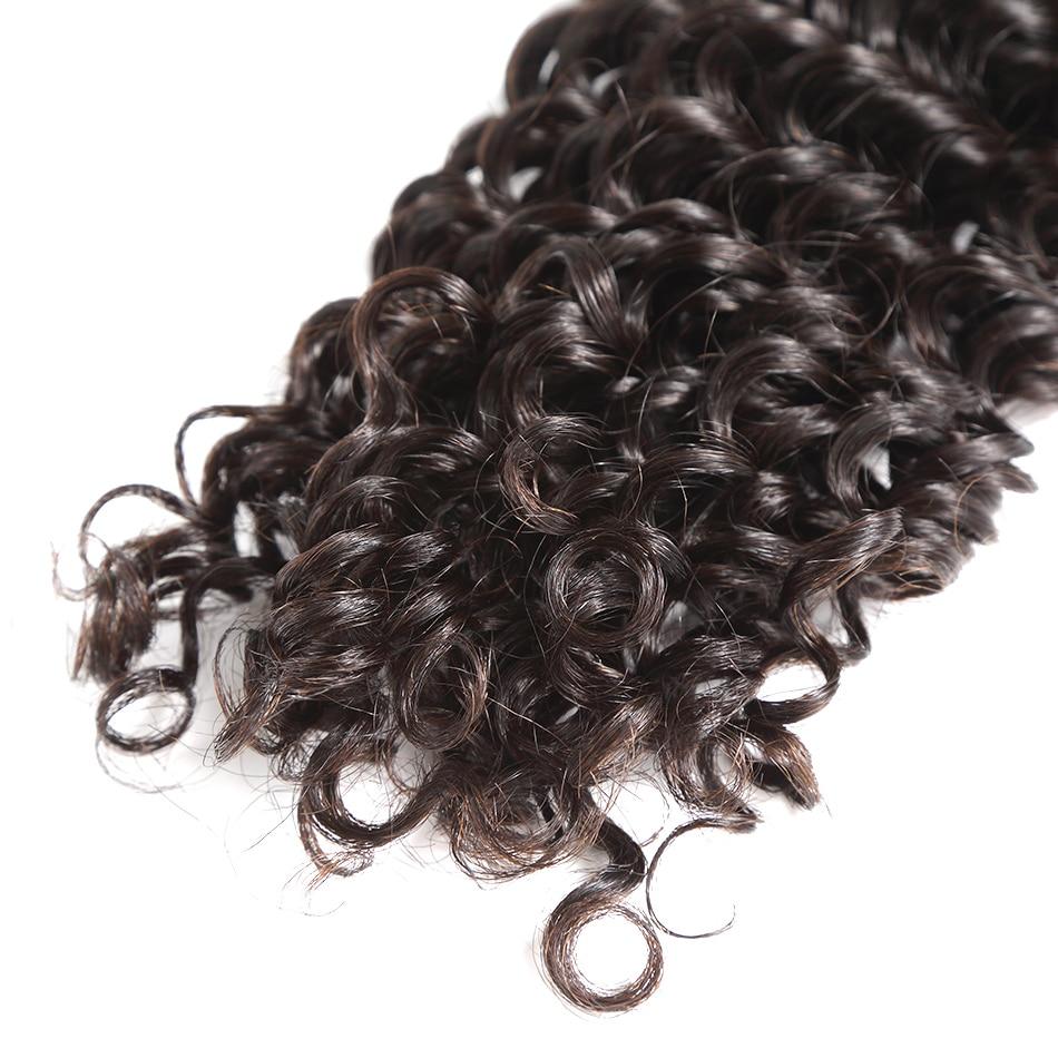 Image 5 - Peruvian Deep Wave Bundles Deals 3/4 Bundles 100% Non Remy Human Hair Extensions Peruvian Hair Bundles For Black Women-in Hair Weaves from Hair Extensions & Wigs