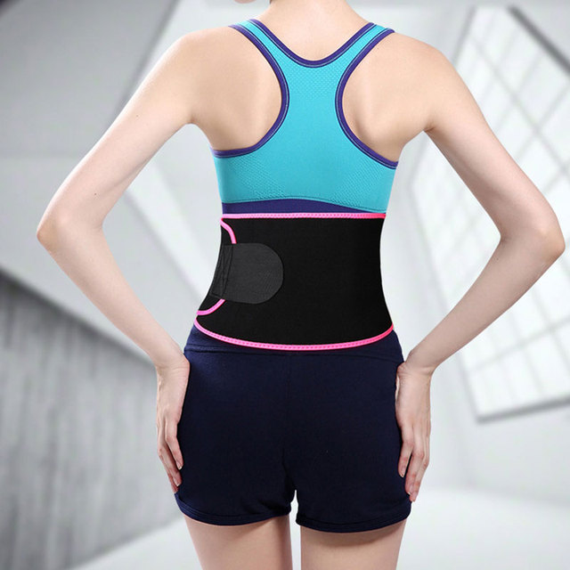 Belly Slimming Trimmer Waist Trainer Outdoor Workout Running Wide Waistband Sweat Waist Belt Body Shaper Corset Waist Shaper 2